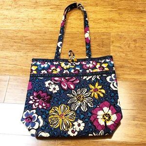 Vera Bradley floral animal print tote fabric bag